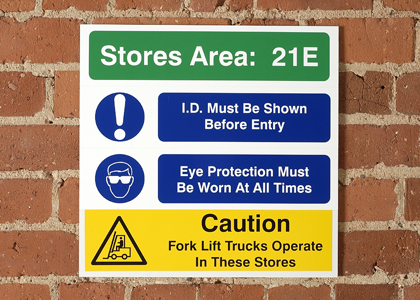 Site Safety Location ID Signs